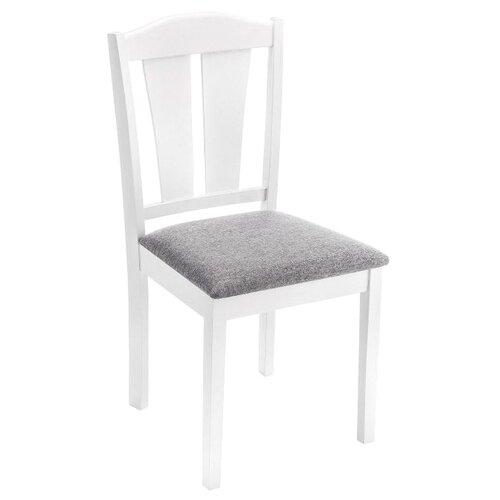 Стул Woodville Bert, дерево/текстиль, цвет: белый/серый стул woodville bert серый