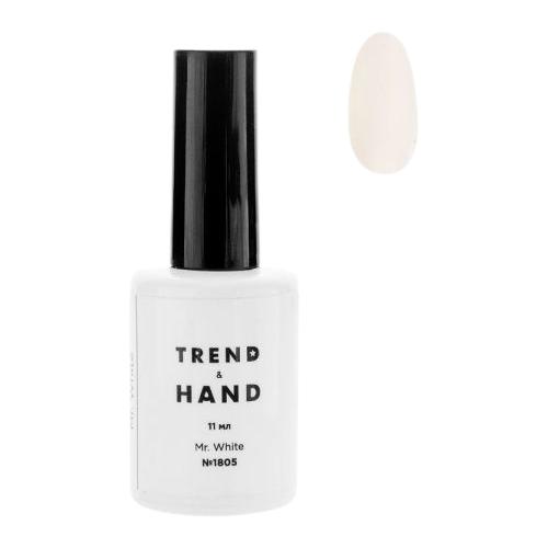 Купить Гель-лак для ногтей Trend&Hand Classic, 11 мл, оттенок 1805 Mr. White