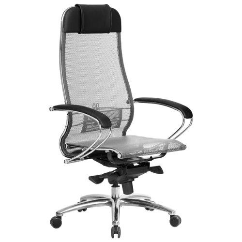 Компьютерное кресло Метта SAMURAI S-1 офисное, обивка: текстиль, цвет: серый компьютерное кресло метта bp 2 pl офисное обивка натуральная кожа цвет 721 черный