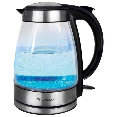 Чайник Ergolux ELX-KG02-C42, серебристо-черный весы ergolux elx sk03 c02 black