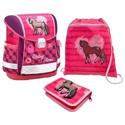 Купить Belmil Ранец Classy Riding Horse с наполнением (403-13/714/SET), розовый, Рюкзаки, ранцы