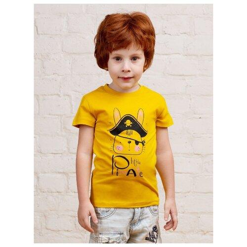 Футболка MOR, размер 104-110, желтый футболка kogankids размер 110 желтый
