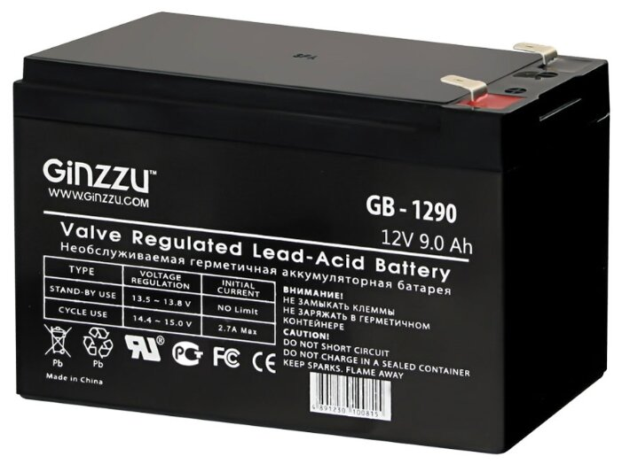 Аккумуляторная батарея Ginzzu GB-1290 9 А·ч