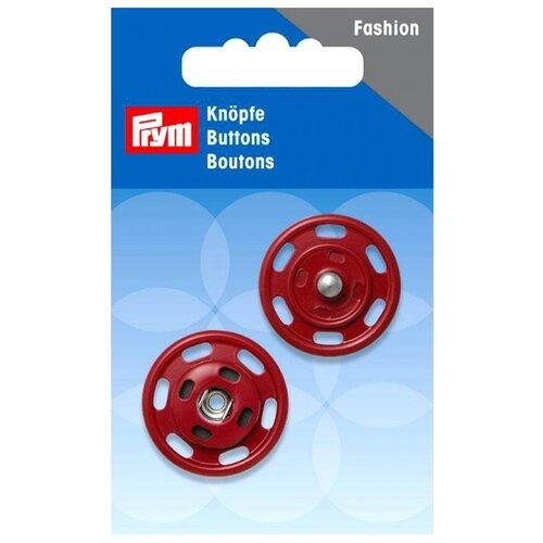 Купить Prym Кнопки пришивные 13418320, темно-красный, 25 мм, 1 шт.