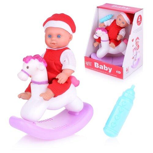 Купить Пупс Oubaoloon 20 см, с лошадкой, в коробке (LD68001A), Куклы и пупсы