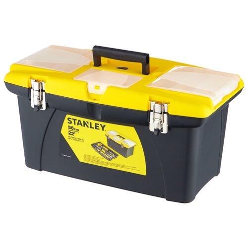 Ящик с органайзером STANLEY Jumbo 1-92-908 31.4x56.2x30 см желтый/черный ящик с органайзером stanley jumbo 1 92 906 27 6x48 6x23 2 см черный желтый