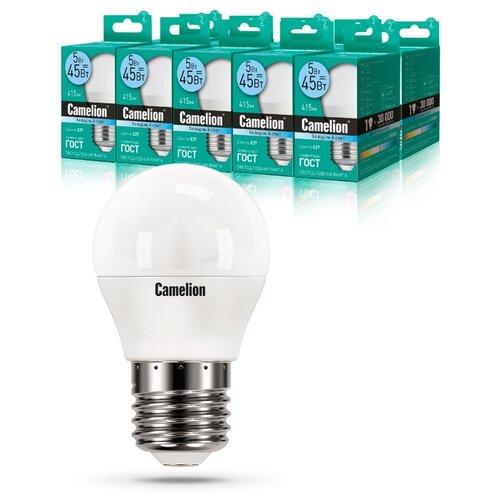 Фото - Упаковка светодиодных ламп 10 шт Camelion 12030 (10), E27, G45, 5Вт упаковка светодиодных ламп 10 шт gauss 105101207 e14 g45 6 5вт