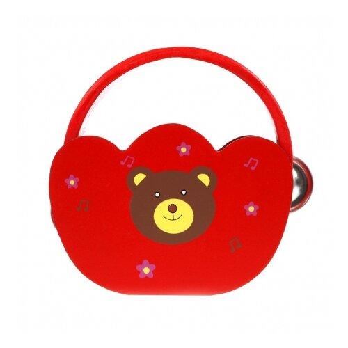 Купить Mapacha бубен 76814 красный, Детские музыкальные инструменты