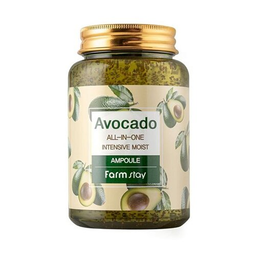 Farmstay All-In-One Intensive Moist Ampoule Ампульная сыворотка для лица с авокадо, 250 мл недорого