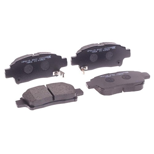 Фото - Дисковые тормозные колодки передние HONG SUNG BRAKE HP5018 для Toyota Echo, Toyota Vitz, Toyota Yaris, Toyota Probox (4 шт.) дисковые тормозные колодки передние ferodo fdb4229 для toyota tundra toyota land cruiser toyota sequoia lexus lx 4 шт