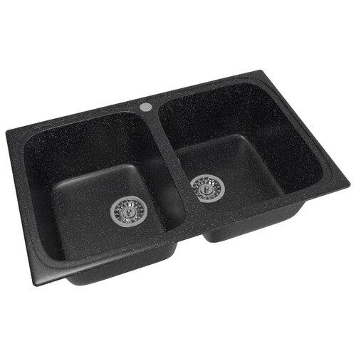 Фото - Врезная кухонная мойка 77.5 см Mixline ML-GM23 308 черный врезная кухонная мойка 57 см mixline ml gm17 темно серая 309