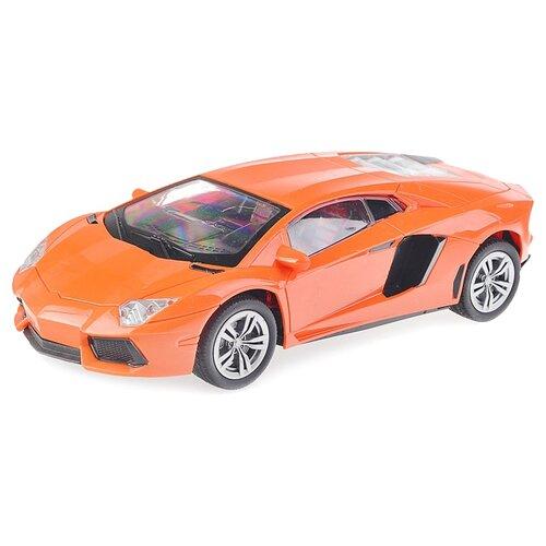 Легковой автомобиль Oubaoloon 6609-4A 1:16 24 см оранжевый
