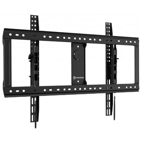 Фото - ONKRON кронштейн для телевизора 65-90 наклонный, черный UT9 подставка для телевизора onkron ts1351 40 65 напольный мобильный