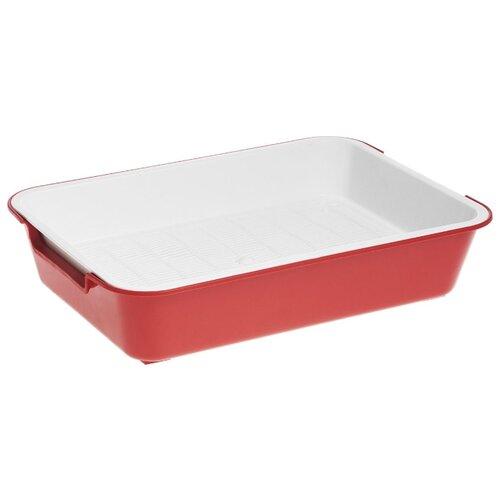 Туалет-лоток для кошек Homecat 3519509/3519547/3519486/3519561 37х27х8 см красный 1 шт.