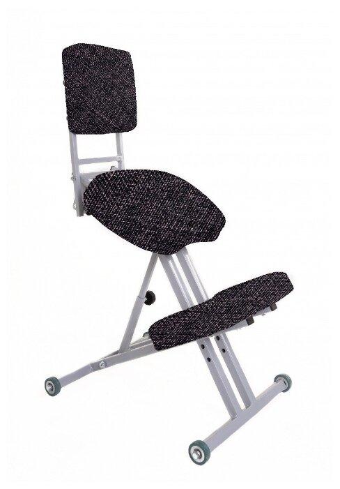 Купить Ортопедический коленный стул «Богатырь» со спинкой (ткань) темно-серый по низкой цене с доставкой из Яндекс.Маркета