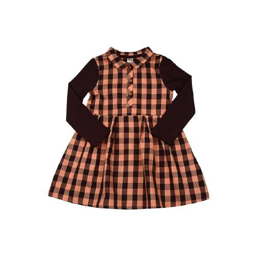 Платье Mini Maxi размер 104, оранжевая клетка