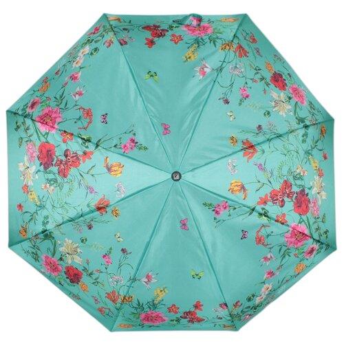 Зонт полуавтомат FLIORAJ Нежность зеленый зонт складной flioraj flioraj fl976dwente7