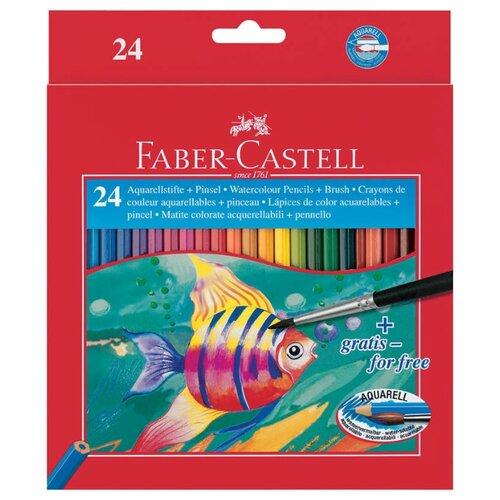 цена Faber-Castell Акварельные карандаши Fish Design, 24 цвета (114425) онлайн в 2017 году