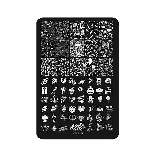 Трафарет KLIO Professional №036 11 х 15 см black  - Купить
