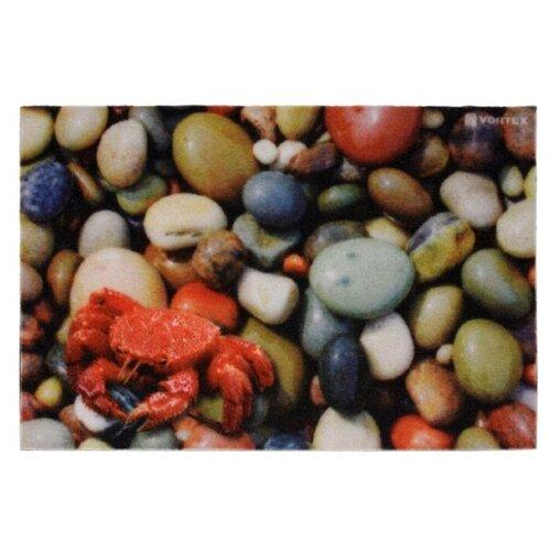 Придверный коврик VORTEX Samba Галька (22415), размер: 0.6х0.4 м, серый/красный коврик придверный vortex palermo цвет красный зеленый 50 х 80 см 22454