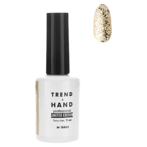 Купить Гель-лак для ногтей Trend&Hand Limited Edition, 11 мл, 18902 Golden Flakes