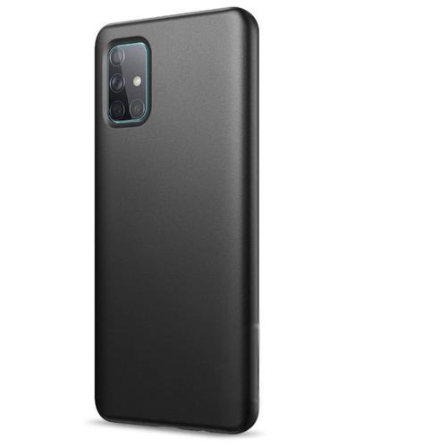 Матовый чехол для Samsung Galaxy A71 / Силиконовый чехол на Самсунг Галакси А71 (Черный)