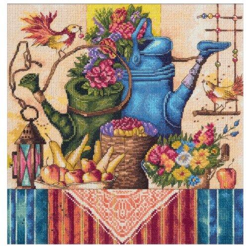 Купить PANNA Набор для вышивания Натюрморт с лейками 25 х 25 см (N-1995), Наборы для вышивания