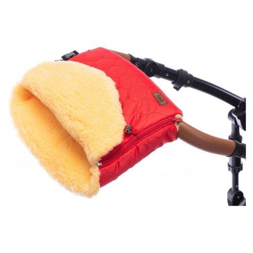 Купить Муфта меховая для коляски Nuovita Polare Pesco (Rosso/Красный), Аксессуары для колясок и автокресел