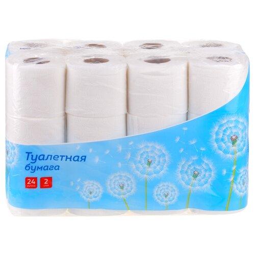Фото - Туалетная бумага OfficeClean белая двухслойная, 24 рул. хозяйственные товары officeclean туалетная бумага 2 слоя 4 шт
