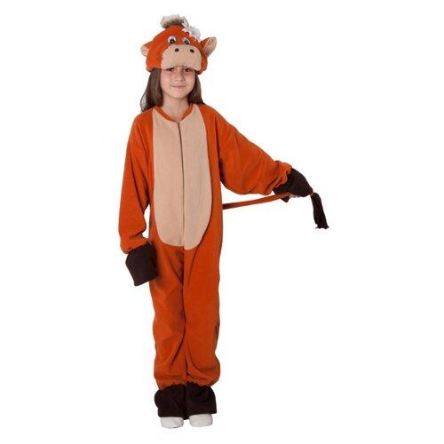 Купить Костюм ВИНИ Теленок, коричневый, размер 122-128, Карнавальные костюмы