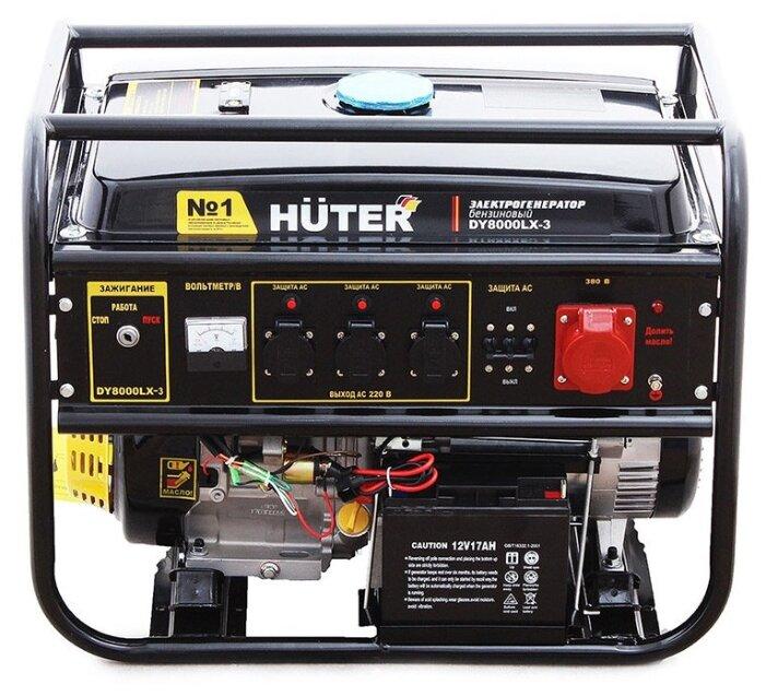 Бензиновый генератор Huter DY8000LX 3 (6500 Вт)