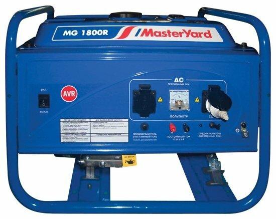 Бензиновый генератор MasterYard MG 1800R (1600 Вт)
