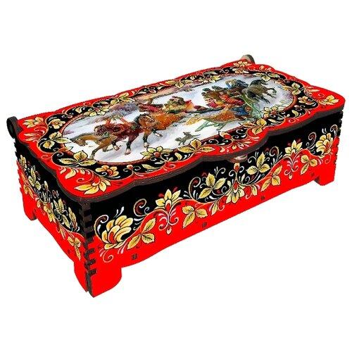 Набор конфет Кремлина Кремлинка вишенка в резной шкатулке с замком 150 г чернослив шоколадный кремлина самолет в резной деревянной шкатулке 400 г