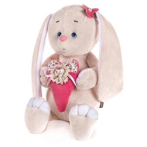 Купить Мягкая игрушка Романтичный зайчик с розовым сердечком , 25 см, арт. MT-GU092018-9-25, Maxitoys, Мягкие игрушки