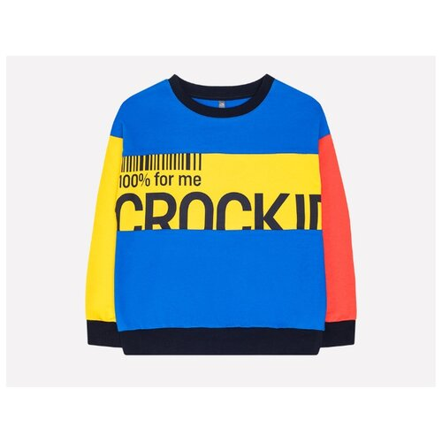 Свитшот crockid размер 110, ярко-синий