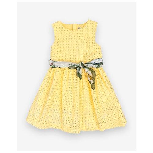 Платье Gulliver размер 104, желтый платье smena размер 104 56 синий желтый