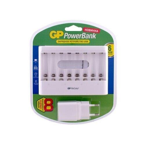 Зарядное устройство (12 ч.) GP и сетевой адаптер для аккумуляторов GPU811GS-2CR1
