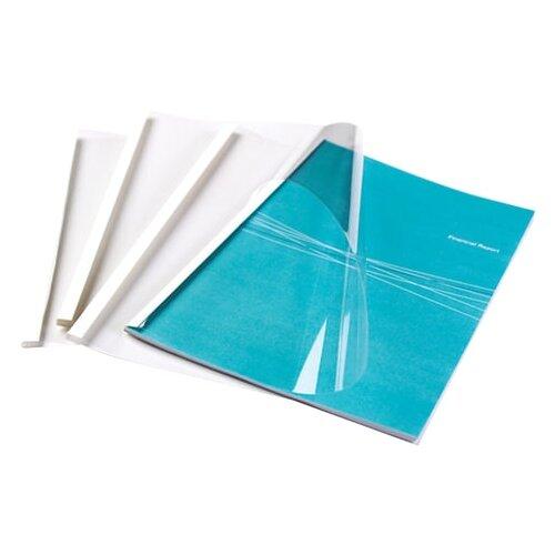 Фото - Обложки для термопереплета, А4, КОМПЛЕКТ 50 шт., 20 мм, 151-200 л., верх прозрачный ПВХ, низ картон, FELLOWES, FS-53906 запарник для бани липа 12 л