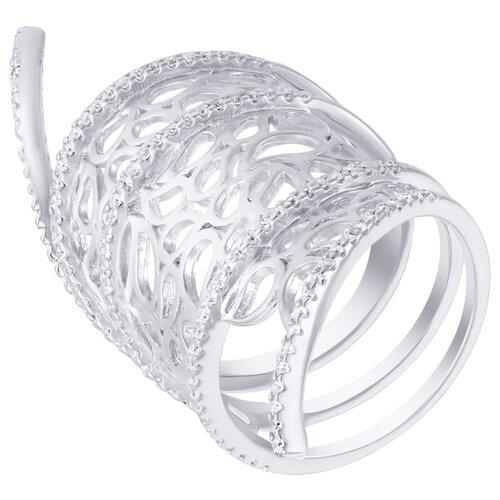 ELEMENT47 Широкое ювелирное кольцо из серебра 925 пробы с кубическим цирконием DM2370R_KO_001_WG, размер 18- преимущества, отзывы, как заказать товар за 8892 руб. Бренд ELEMENT47