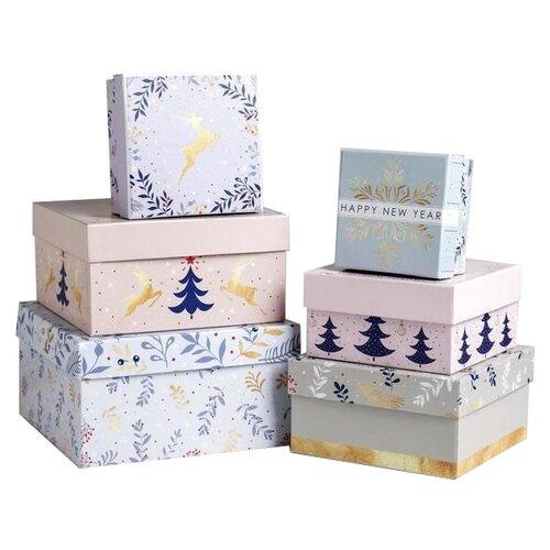 Фото - Набор подарочных коробок Дарите счастье Нежность, 6 шт. голубой/розовый набор подарочных коробок дарите счастье нежность 3 шт розовый