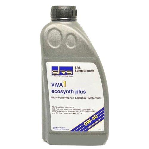 Синтетическое моторное масло SRS VIVA 1 Ecosynth Plus 0W-40 1 л минеральное моторное масло srs multi rekord top 15w40 1 л