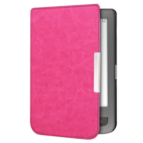Чехол-обложка футляр MyPads для PocketBook 626 Plus Touch Lux 3 из качественной эко-кожи тонкий с магнитной застежкой розовый