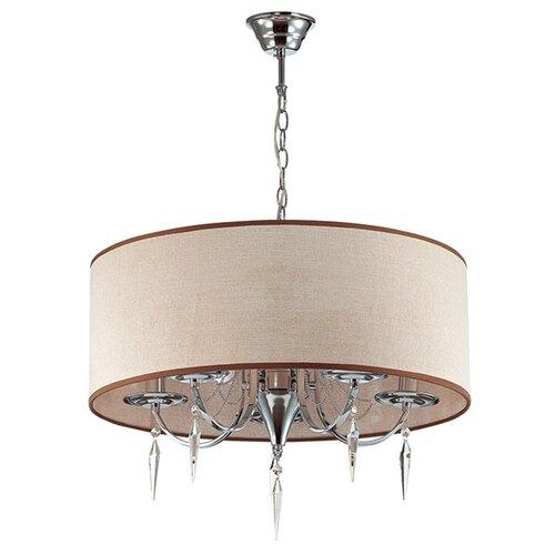люстра потолочная светодиодная odeon light saturno 114 вт хром Люстра потолочная Odeon Light Ofelia, E14, 220 В, 5x40 Вт
