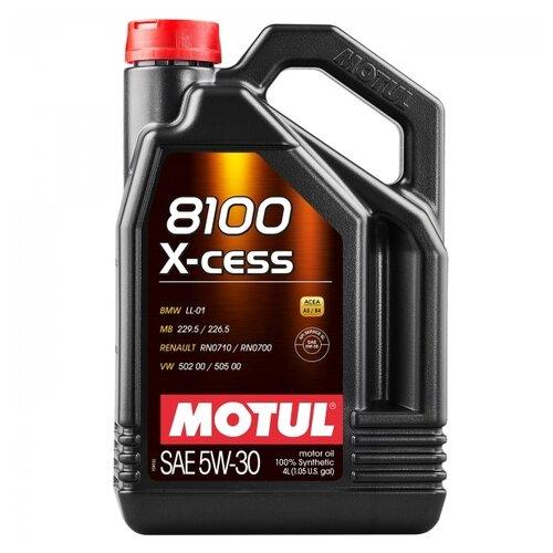 Моторное масло Motul 8100 X-cess 5W30 4 л