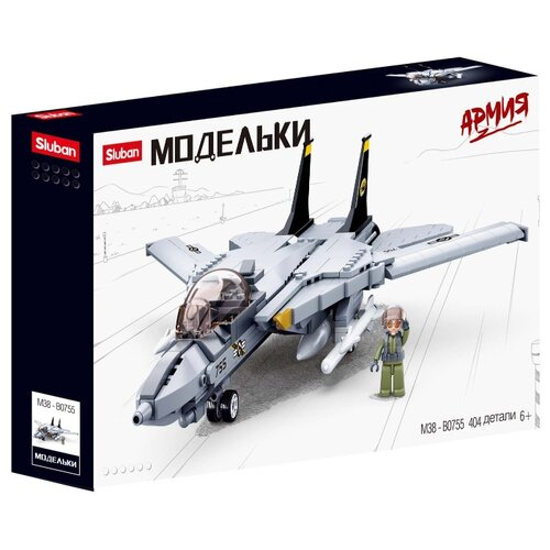 Купить Конструктор SLUBAN Модельки M38-B0755 Истребитель F14, Конструкторы