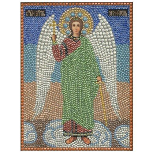 Купить Ангел Хранитель набор для выкладывания полужемчугом 22х28 Преобрана 1П057, Алмазная вышивка