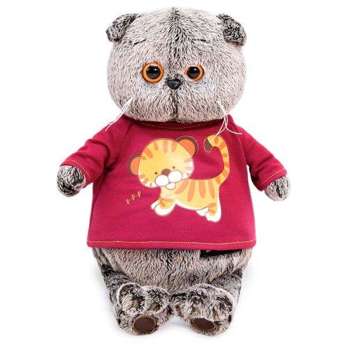 Купить Мягкая игрушка Basik&Co Кот Басик в футболке с принтом Тигренок 19 см, Мягкие игрушки