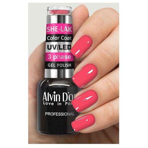 Купить Гель-лак для ногтей Alvin D'or She-Lak Color Coat, 8 мл, оттенок 3551