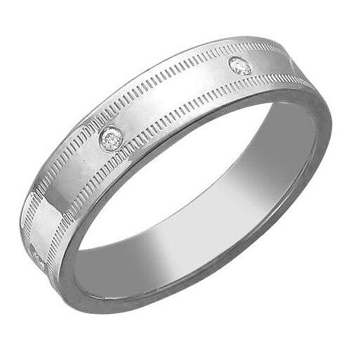 Эстет Кольцо с 6 фианитами из серебра 01О150117, размер 17