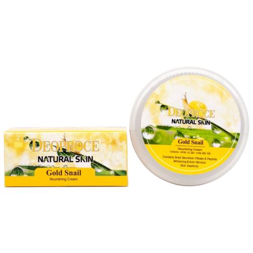 Фото - Крем для тела Deoproce Natural Skin Gold Snail Nourishing Cream, банка, 100 г крем для тела deoproce natural skin olive nourishing cream 100 г